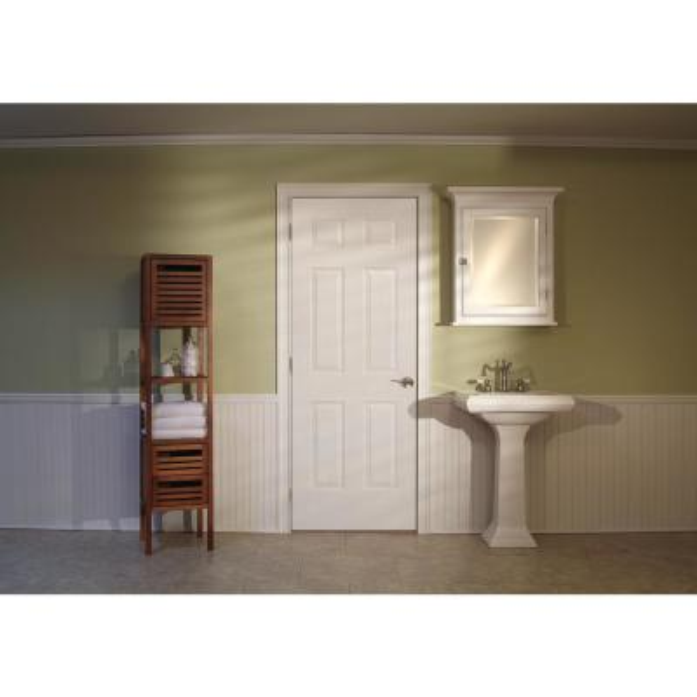 30 in. x 80 in. Colonist Primed Textured Molded Composite MDF Interior Door Slab