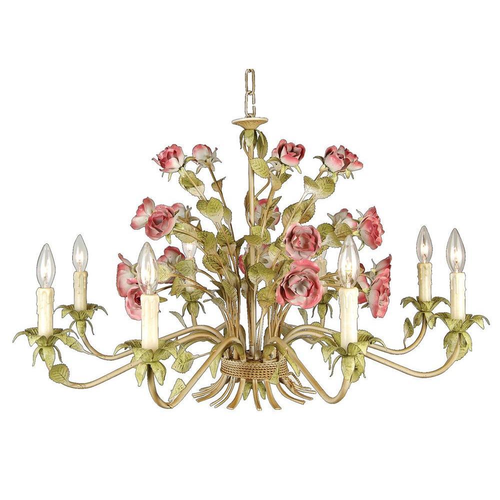 Filament Design Xavier 8 Light Rose Chandelier Cli Bifal14