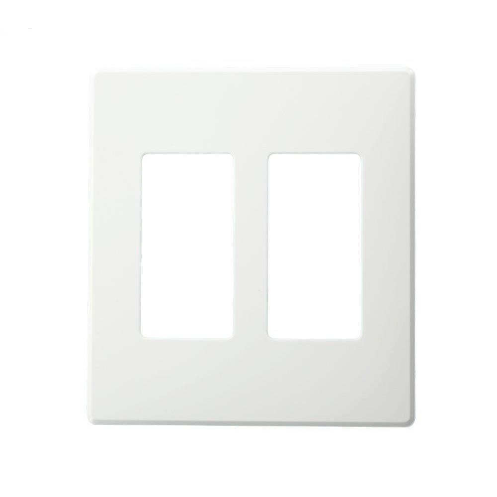 2gang narrow fins removed renoir ii wall plate in white