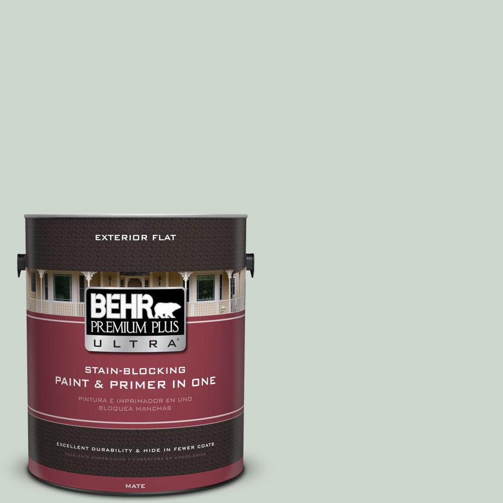1-gal. #450E-2 April Mist Flat Exterior Paint
