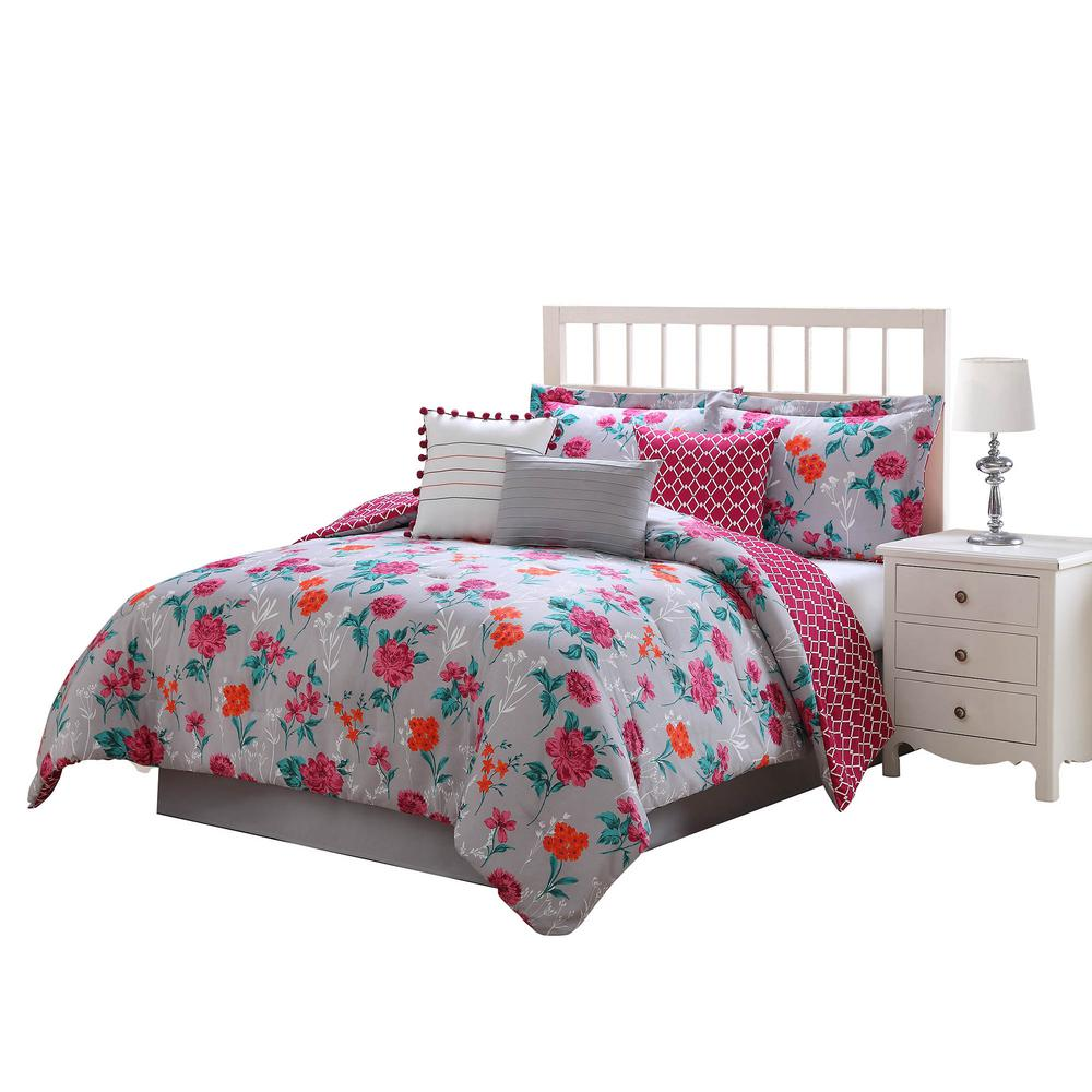 Kimley Reversible 7-Piece Queen Comforter Set