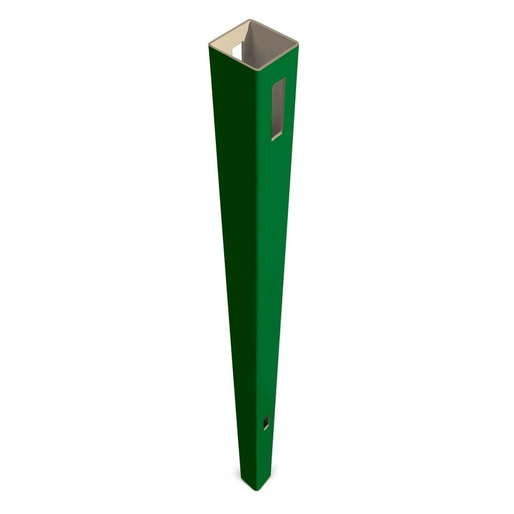 Veranda Pro Series 5 in. x 5 in. x 8-1/2 ft. Green Vinyl Anaheim Heavy Duty Routed Fence Line Post