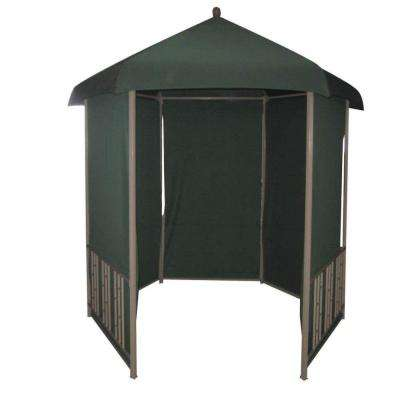 11 ft. x 11 ft. Gazebo Steel Hexagonal with Pull Down Shades