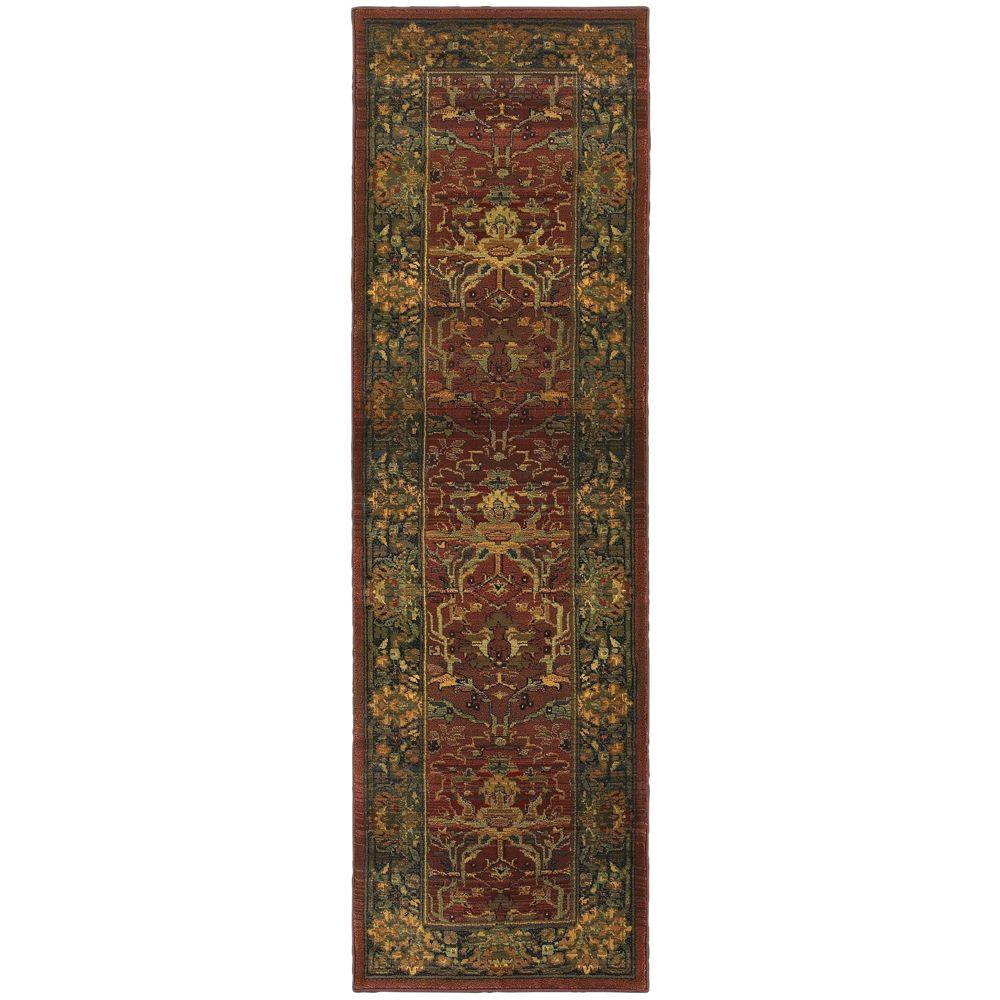 Home Decorators Collection Peace Brick 2 ft. x 8 ft. Runner Rug