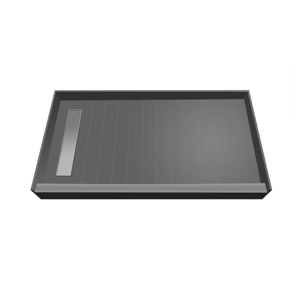 Redi Trench 30 in. x 60 in. Single Threshold Shower Base with Left Drain and Tileable Trench Grate