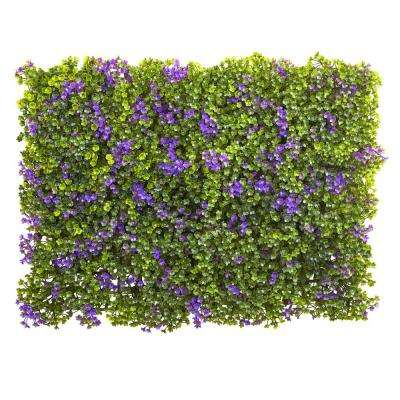 6 in x 6 in. Purple and Green Clover Mat (Set of 12)