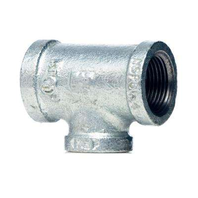 3/4 in. x 1/2 in. x 1/2 in. Galvanized Malleable Iron Reducing Tee