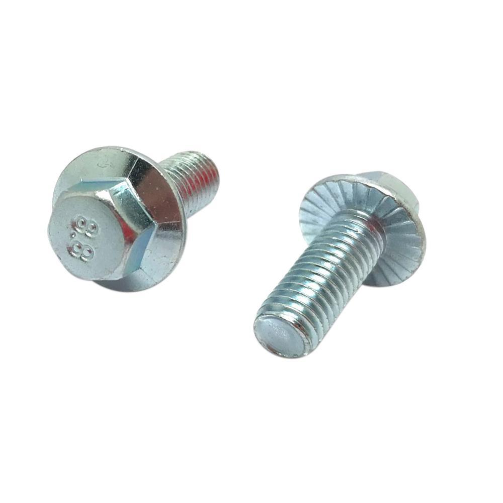 Everbilt M8 1 25 X 16 Mm Zinc Plated Steel Flange Bolts 2 Pack 802588 The Home Depot