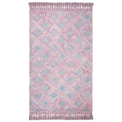 Sahara Pink/Gray 4 ft. x 6 ft. Area Rug