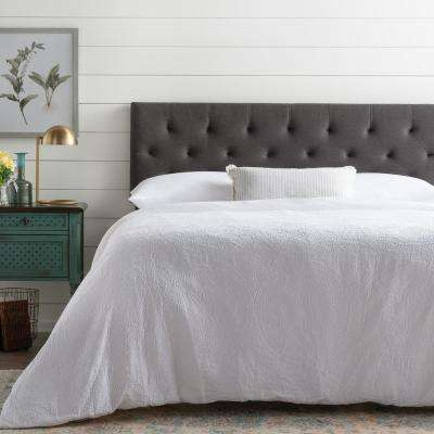 Emmie Adjustable Charcoal King/Cal King Upholstered Headboard