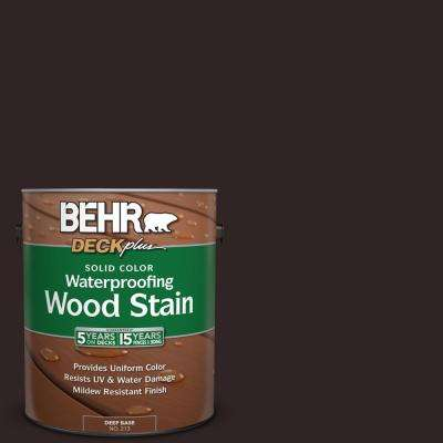1 gal. #SC-104 Cordovan Brown Solid Color Waterproofing Exterior Wood Stain