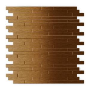 inoxia speedtiles wally in x 12 in self adhesive decorative wall tile in dark copper. Black Bedroom Furniture Sets. Home Design Ideas