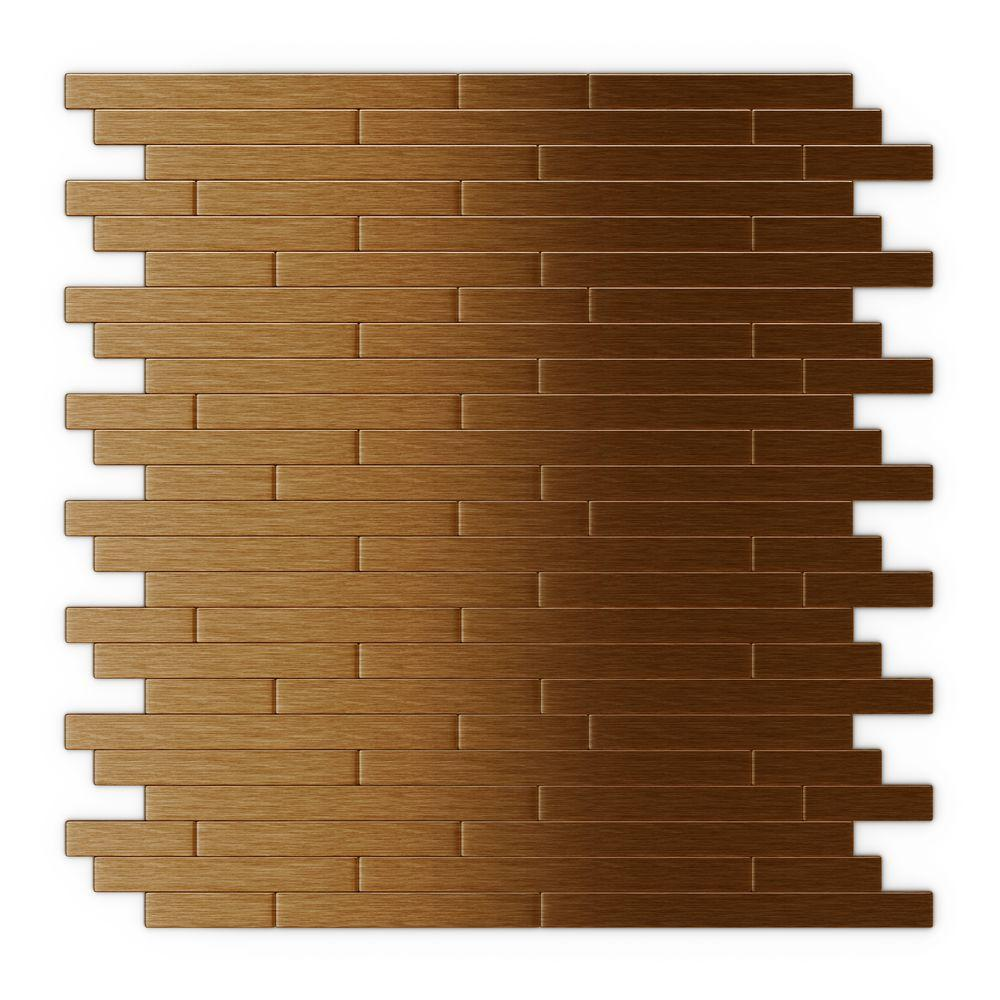 inoxia speedtiles wally in x 12 in self adhesive decorative wall tile in dark copper 24. Black Bedroom Furniture Sets. Home Design Ideas