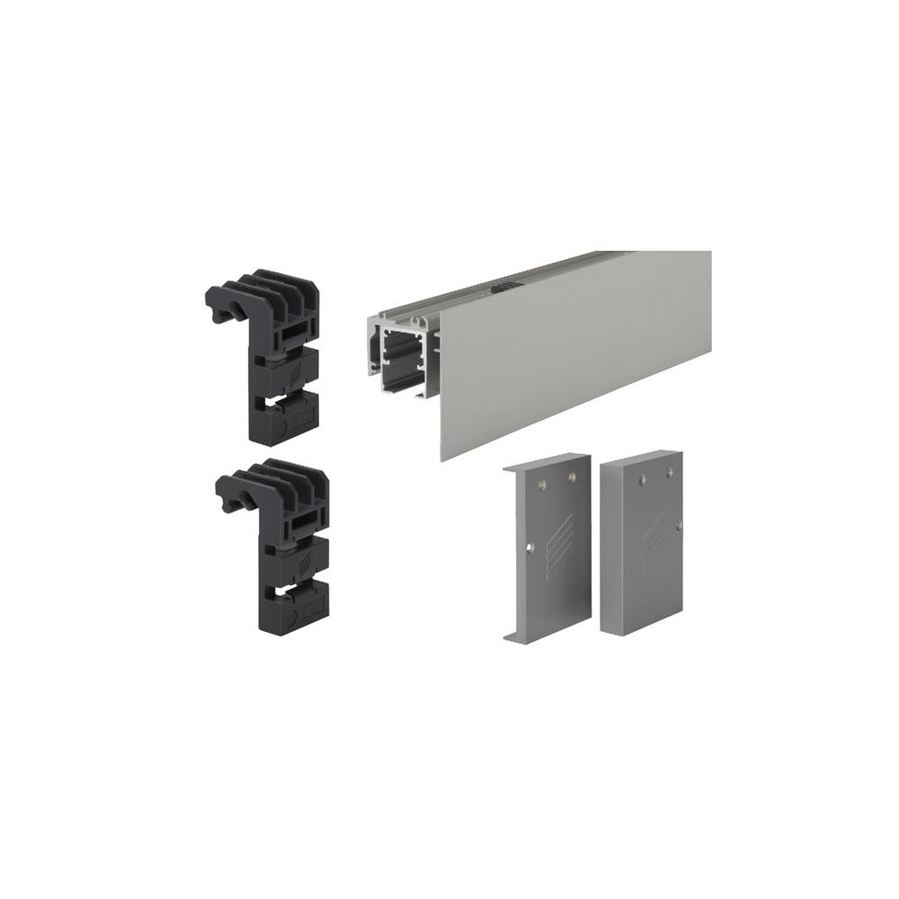 Wall mount sliding door hardware set - Grant Fascia Wall Mount Set For 6 Ft Grant Sliding Door System Sd 150