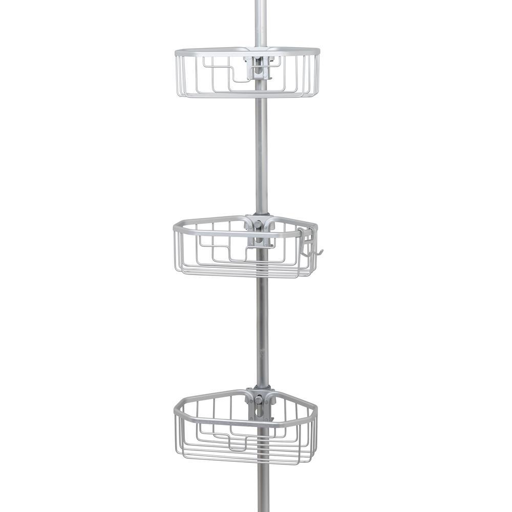 NeverRust Aluminum Tension Corner Shower Caddy ...
