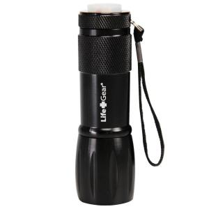 Life+Gear Mini Max LED Black Flashlight with Red Tail Emergency Flasher by Life+Gear