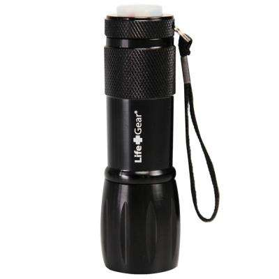 Mini Max LED Black Flashlight with Red Tail Emergency Flasher