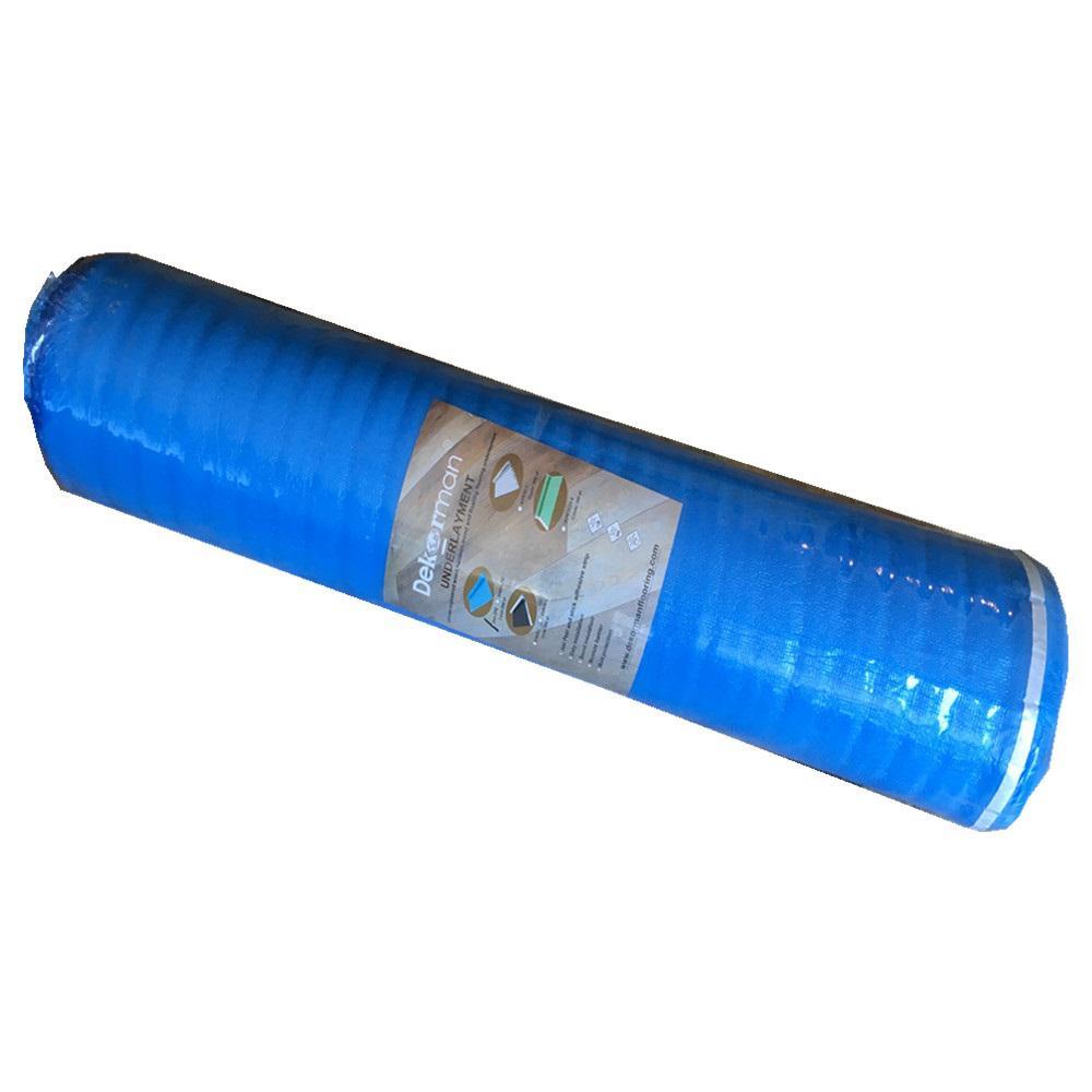 Dekorman Laminate Flooring Blue Foam Underlayment 2 Mm T X 3 3 Ft W X 61 Ft L 200 Sq Ft Roll