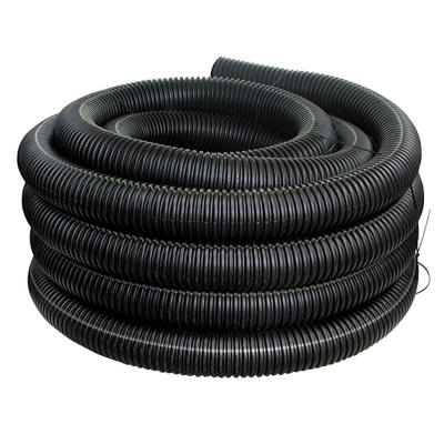4 in. x 50 ft. Corrugated Pipes Drain Pipe Solid