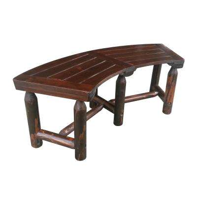 Char-Log 50 in. Wood Curved Outdoor Patio Bench