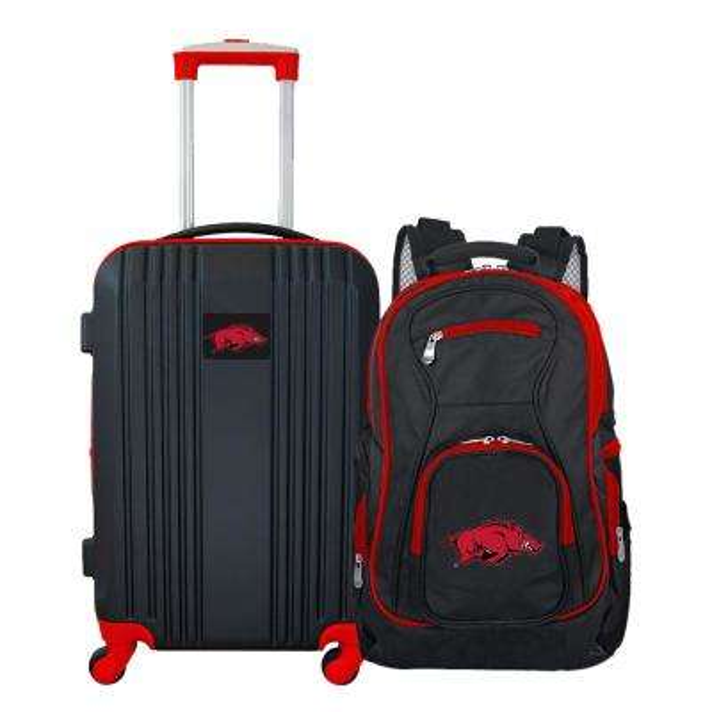 NCAA Arkansas Razorbacks 2-Piece Set Luggage and Backpack