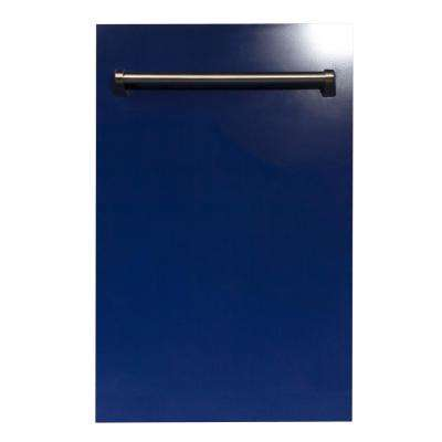 18 in. Top Control Dishwasher in Blue Gloss with Stainless Steel Tub and  Traditional Style Handle