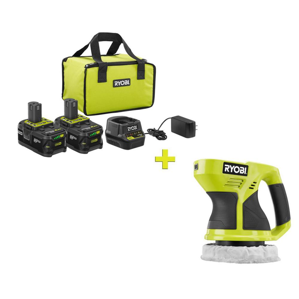 RYOBI 18-Volt ONE+ High Capacity 4.0 Ah Battery (2-Pack) Starter Kit with Charger and Bag with FREE ONE+ 6 in. Buffer was $259.97 now $99.0 (62.0% off)