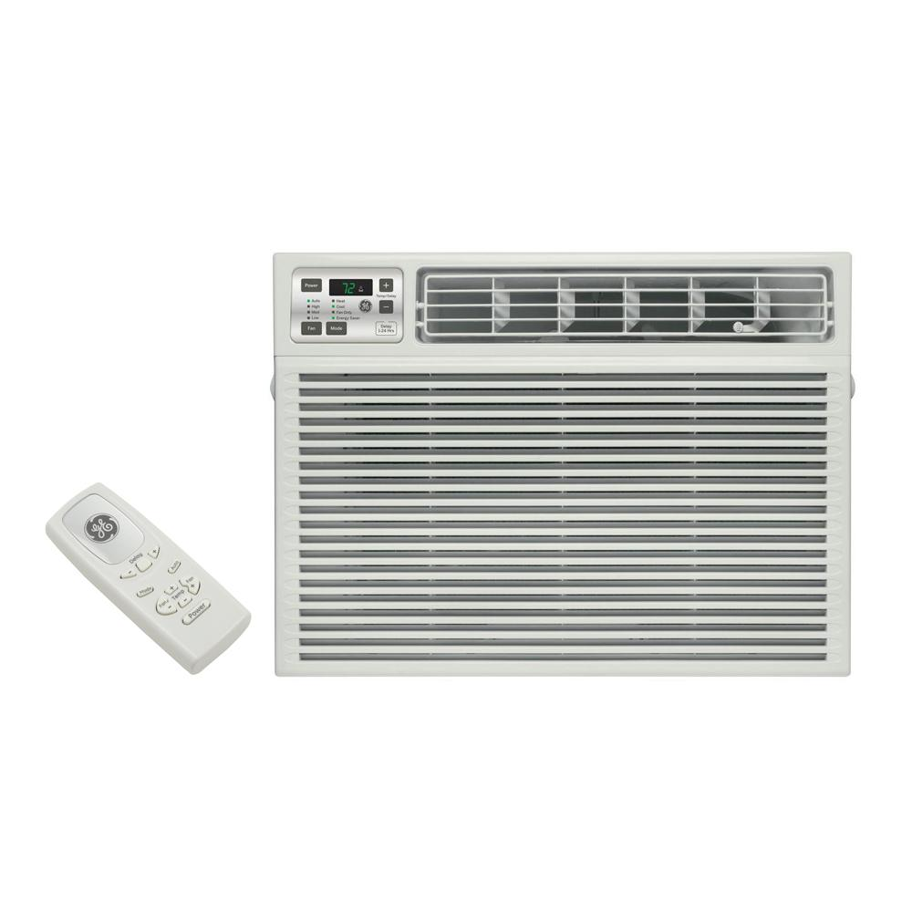 115-Volt Electronic Heat/Cool Room Window Air Conditioner GE Conditioner-AEE08AT