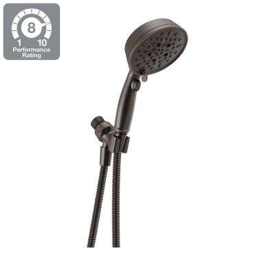 7-Spray Handheld Showerhead with Pause in SpotShield Venetian Bronze