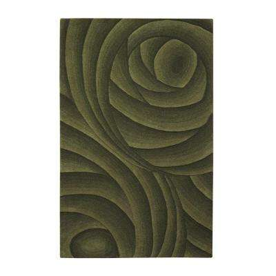 Optics Green 9 ft. x 12 ft. Area Rug