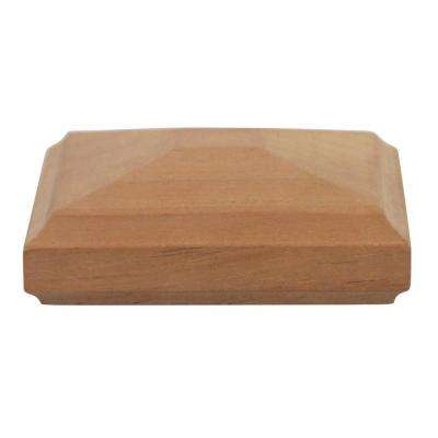 Miterless 4 in. x 4 in. Untreated Wood Traditional Pyramid Slip Over Fence Post Cap (Actual: 3-1/2 in. to 3-5/8 in.)