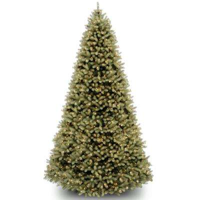9 ft. Feel Real Downswept Douglas Fir Hinged Tree with 1200 Clear Lights