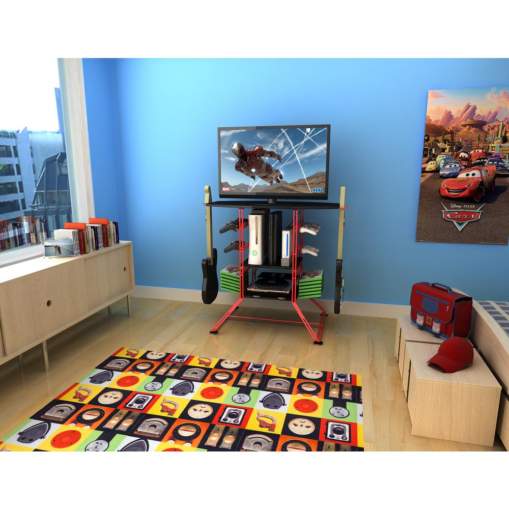 Atlantic 37 In Red Centipede Game Storage And Tv Stand 45506142b
