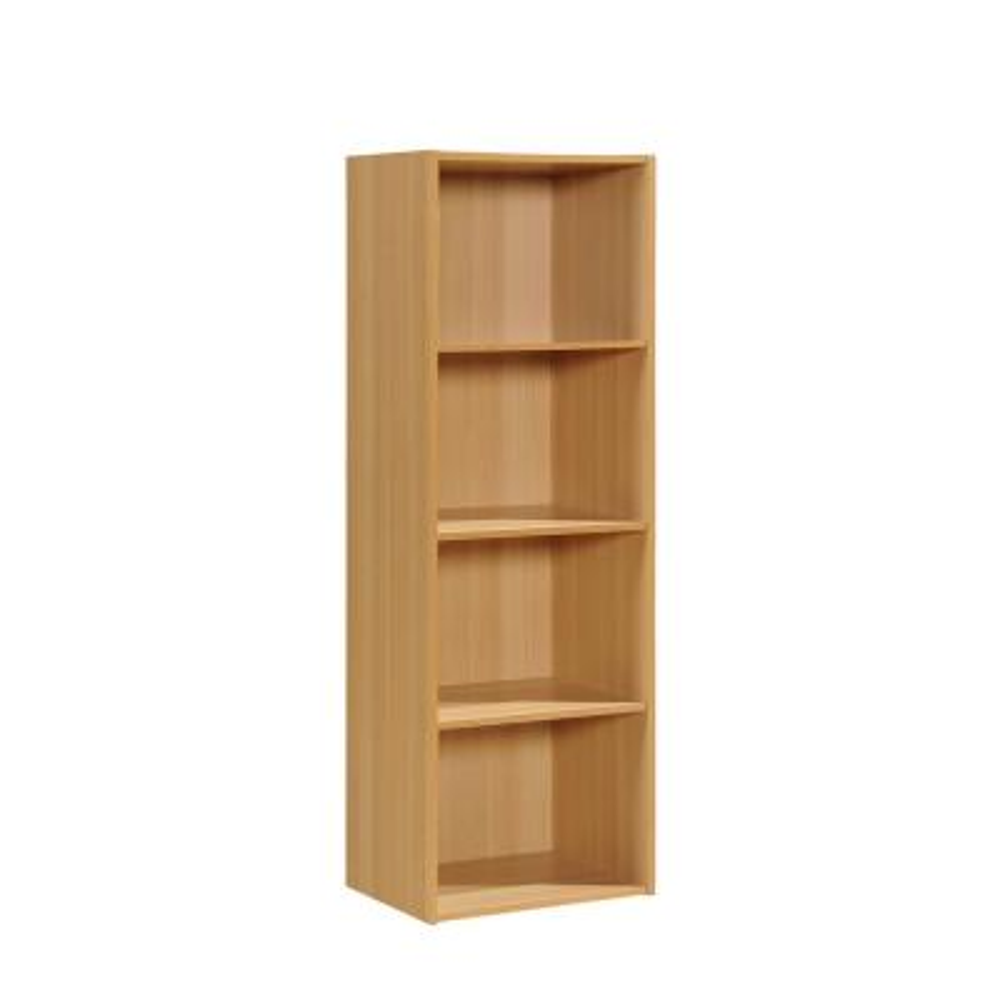 4-Shelf, 47 in. H Beech Bookcase