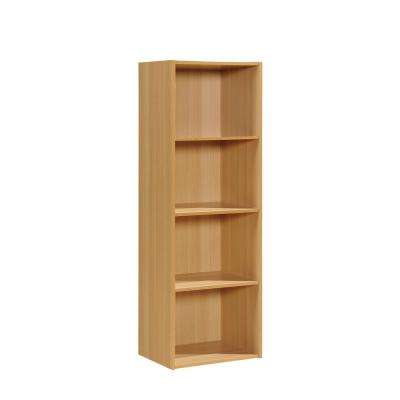 4-Shelf, 47 in. H Beech Bookcase