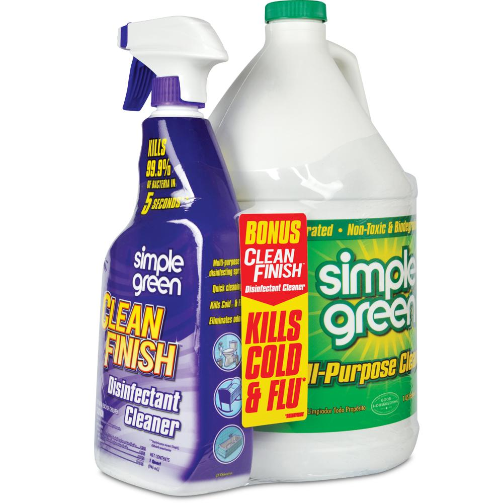 1 Gal. Concentrated All-Purpose Cleaner with 32 oz. Clean Finish Disinfectant