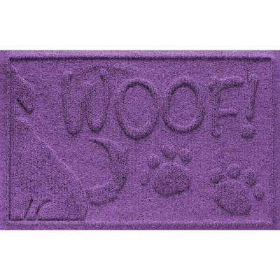 Purple 18 in. x 28 in. Wag the Dog Polypropylene Pet Mat