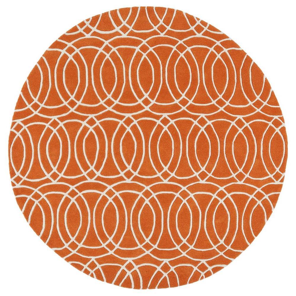 Revolution Orange 12 ft. x 12 ft. Round Area Rug