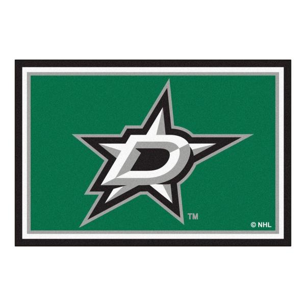 NHL Dallas Stars Green 5 ft. x 8 ft. Indoor Area Rug