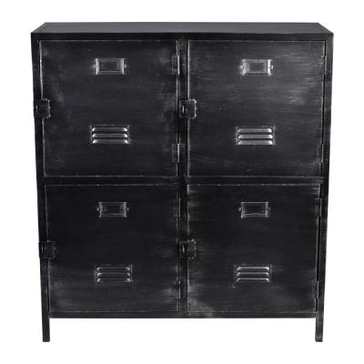 Gorwin Silver Brushed Gray Cabinet
