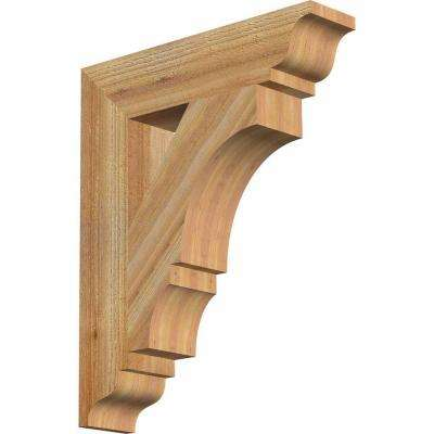 4 in. x 22 in. x 18 in. Western Red Cedar Balboa Traditional Rough Sawn Bracket