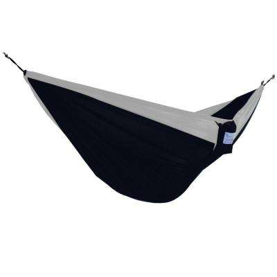 Vivere 10 ft. Parachute Double Hammock in Black/Grey
