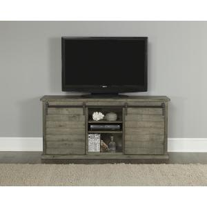 Huntington 64 in. Distressed Gray Entertainment Console