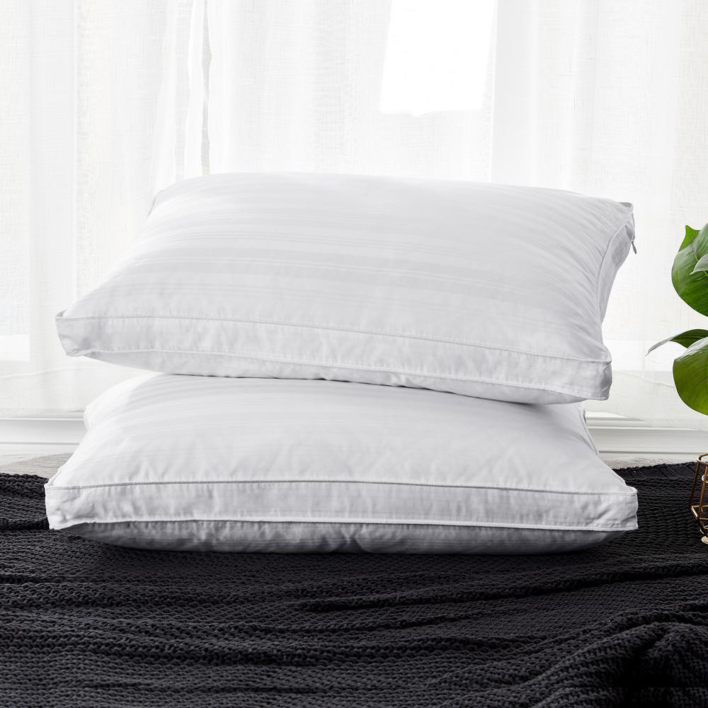 Medium Fill 75% Goose Down King Pillow (Set of 2)