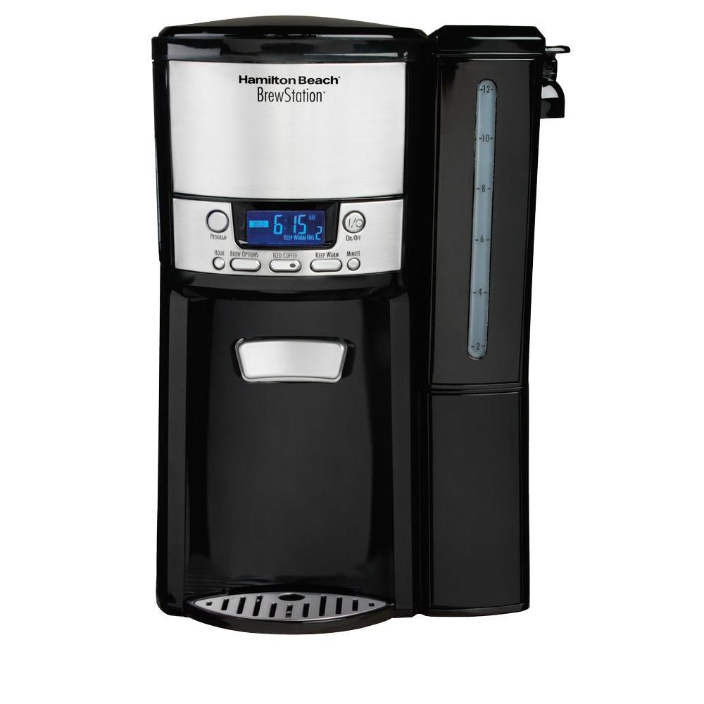 Hamilton Beach BrewStation 12-Cup Dispensing Coffee Maker with Removable Reservoir, Black