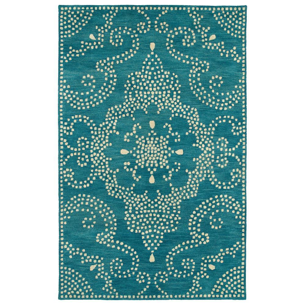 Home Decorators Collection Woolen Jute Indigo 9 Ft. 6 In