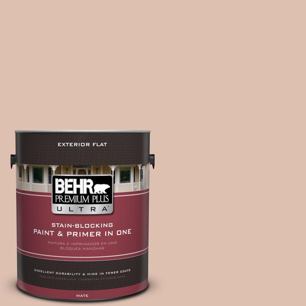 BEHR Premium Plus Ultra 1-gal. #S200-2 Cinnamon Tea Flat Exterior Paint