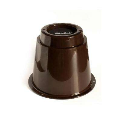5 in. Extra Storage Under-Bed Risers Chocolate (Set of 4)