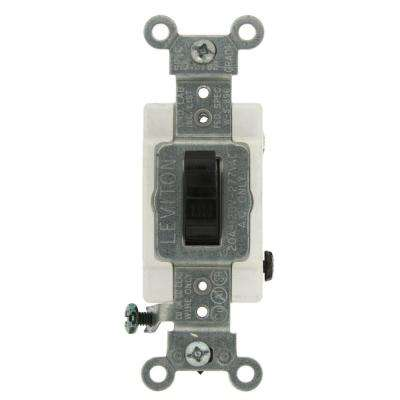 20 Amp Commercial Grade Double-Pole Toggle Switch, Black