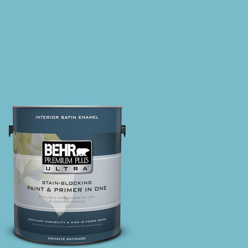 1-gal. #M470-4 Azure Lake Satin Enamel Interior Paint